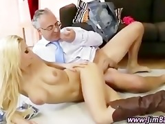 petite golden-haired doxy acquires a jizz flow