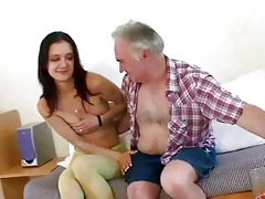 old fellow seducing youthful hotty