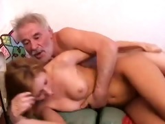 old man with grand daughter