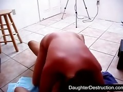 pigtailed legal age teenager daughter drilled hard