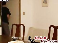 japanese sleeping housewife awaken an drilled by
