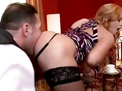 family bondman licking hot blond lady