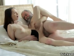 tricky old teacher - alina likes to receive good