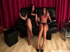 mature woman and her younger sister footplay, and