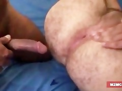 bushy dad gangbanged