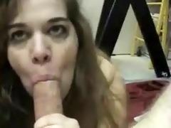 unattractive trash daughter engulfing her own dad!