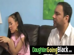 see how my daughter is drilled by a black guy 10