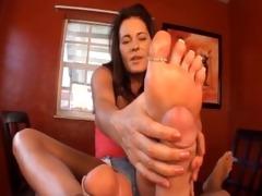 ftf – mother & step-daughter footjob