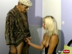 papy fucking a golden-haired with his neighbour