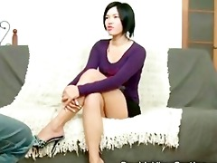 exotic 20 year old honey takes a fat schlong in