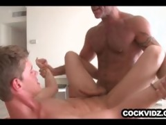 mature man slamming a constricted twink anal