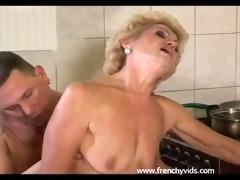 old slut bonks with a juvenile lad