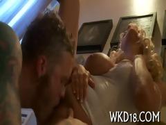 babe seduces fellow to fuck