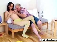 old stud seducing youthful girl