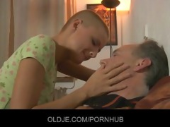 sexy short haired blond tease and fuck mature chap