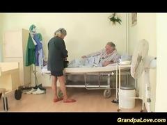 granddad honey fucking a fine brunette hair nurse
