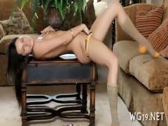 angel shows her flexibility