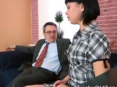 sonia craves to feel her teachers cum inside her