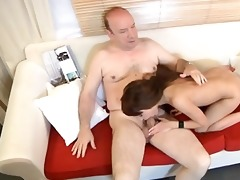 youthful angel fucking old plump stud