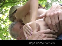 oldman fucks a youthful and naughty hotty