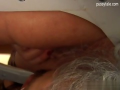 breasty daughter close up oral-stimulation