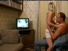 russian youthful blond honey receives drilled