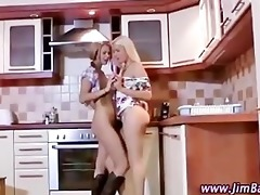 hawt legal age teenager lesbian babes use a sex