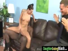 juvenile daughter gets pounded by big dark shlong