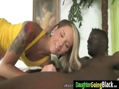 my youthful daughter nailed by cool black