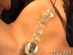 gal caresses her pussy