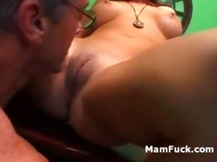 old stud doggy copulates a-hole aged honey as