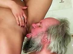 gal punishing and fucking a older man
