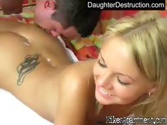 lovely teen daughter bonks like a pro