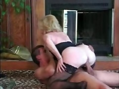 granny rides younger guy by troc
