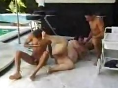 big beautiful woman screwed round pool by 6 guys