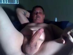 dad home alone jerking his shlong
