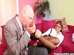 round scones playgirl copulates with boss