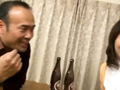 japanese wife sucks on a younger cock