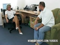 old lady screwed by younger boy