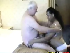 thick indian prostitute with an old boy