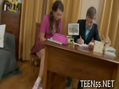 legal age teenager angel receives drilled hard