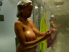 massive tits: annabel large brother africa shower