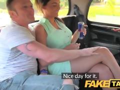 faketaxi pleasure time pair in backseat taxi