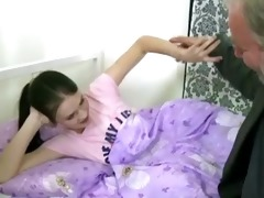 legal age teenager girl receives screwed by an