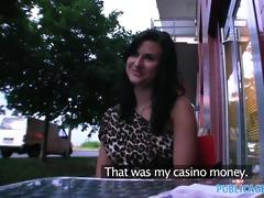 publicagent hawt dark brown gambles away her