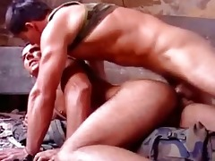 white rock hard muscle dad drilled raw