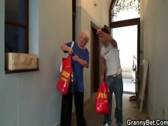 old granny pleases an youthful boy