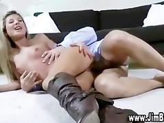 blond gal playing with toy