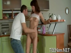 juicy legal age teenager enjoys rear screwing