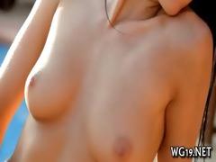 girl caresses sweet gap